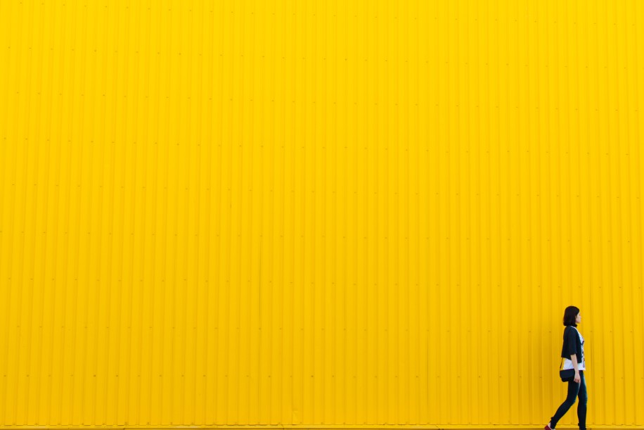 Yellow wall walking